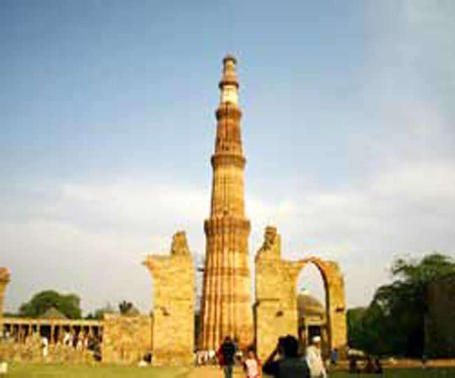 Line Drawing Of Qutub Minar : Ncr asi plans metro will be in line with the historical