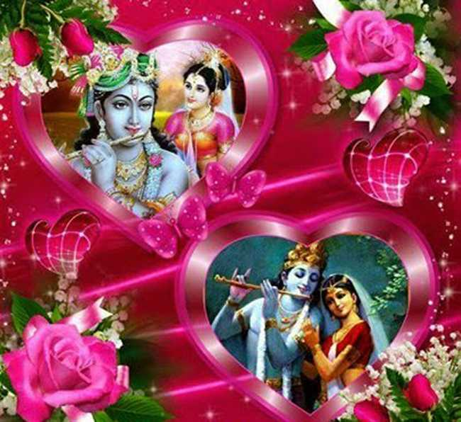 Since Then The Supernatural Love Of Krishna And Radha Were Covered