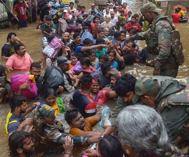 Weather Update: देश के कई राज्यों में बाढ़ का कहर, सेना और एनडीआरएफ का राहत-बचाव कार्य जारी