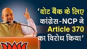 Maharashtra Assembly Election 2019: Cong-NCP ने Vote Bank के लिए Article 370 हटाए जाने का विरोध किया