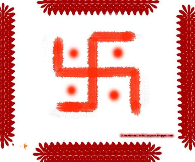 Image result for सिन्दूर से स्वास्तिक