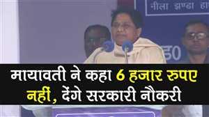 दिल्ली की रैली में मायावती ने कहा मायावती ने कहा 6 हज़ार रुपए नहीं, देंगे सरकारी नौकरी