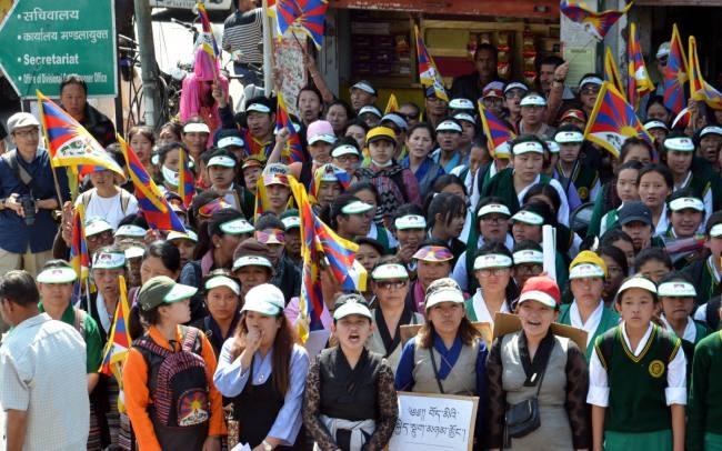 Image result for तिब्बत महिला रैली