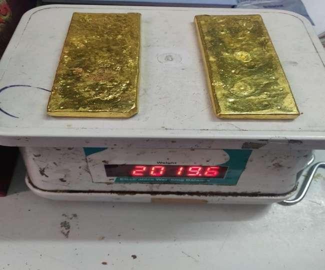 दिल्ली एयर पोर्ट पर यात्री से बरामद हुआ 2019 ग्राम सोना, 72 लाख रुपये से अधिक है कीमत