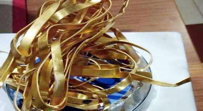 व्यापारी गिरफ्तार भुवनेश्वर हवाई अड्डे पर पकड़ा गया 21 लाख का सोना