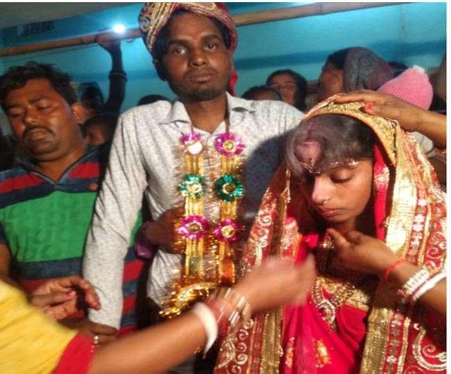VIDEO: बिहार में पकड़ुआ विवाह, पुलिस के सामने जबरन दुल्हन की मांग में भरवाया सिंदूर
