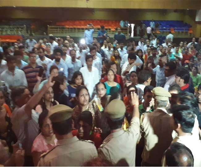 Image result for पुणे: एसपी कॉलेज में हुआ जमकर हंगामा