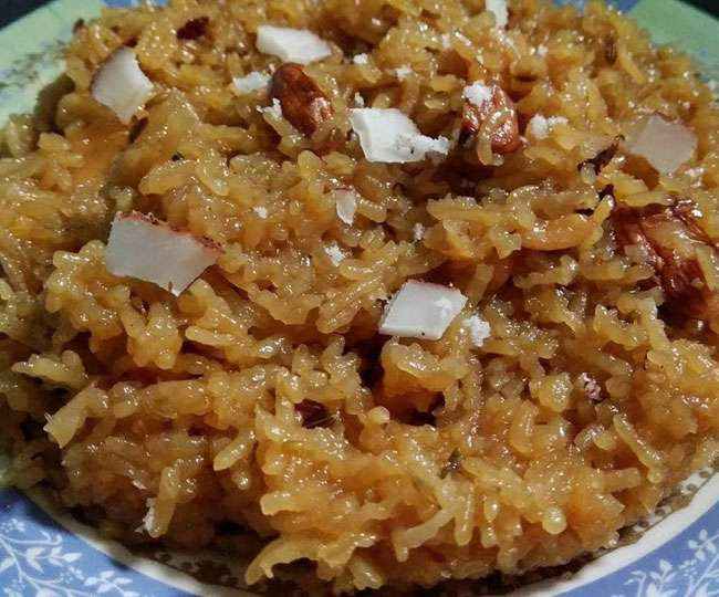 Meetha bhaat Traditional food of uttarakhand winter delicacy