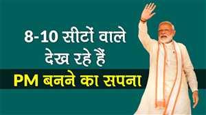 पीएम मोदी का विपक्ष पर तंज, '8-10 सीटों वाले देख रहे हैं PM बनने का सपना'