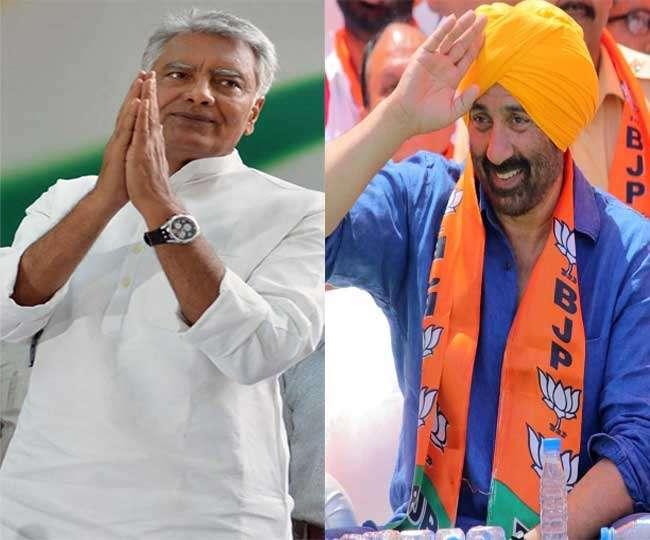 Image result for गुरुदासपुर से सनी देओल vs सुनील जाखड़ -