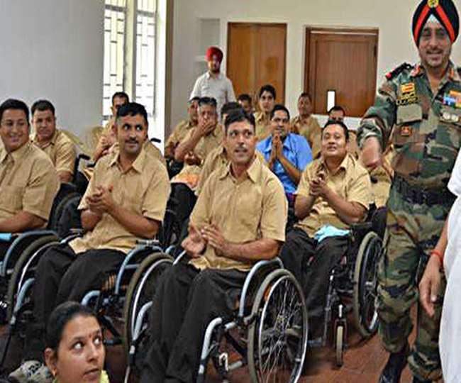 Image result for pics of disabled indian soldiers