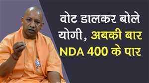 गोरखपुर में वोट डालकर बोले योगी- अबकी बार NDA 400 के पार
