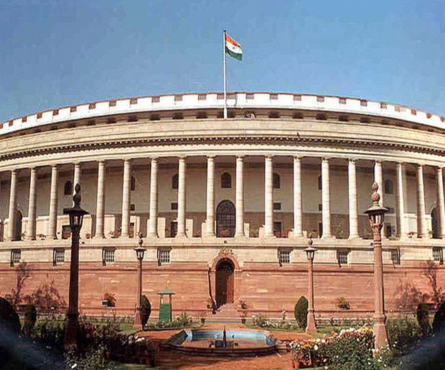 Parliament lits up in diversified colours on the eve of Independence Day | See Pics