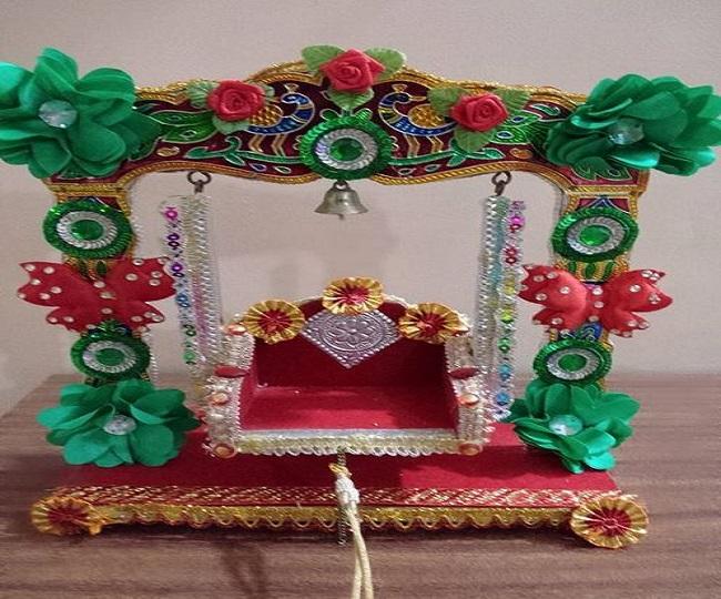 Krishna Janmashtami 2019 Best creative jhula decoration