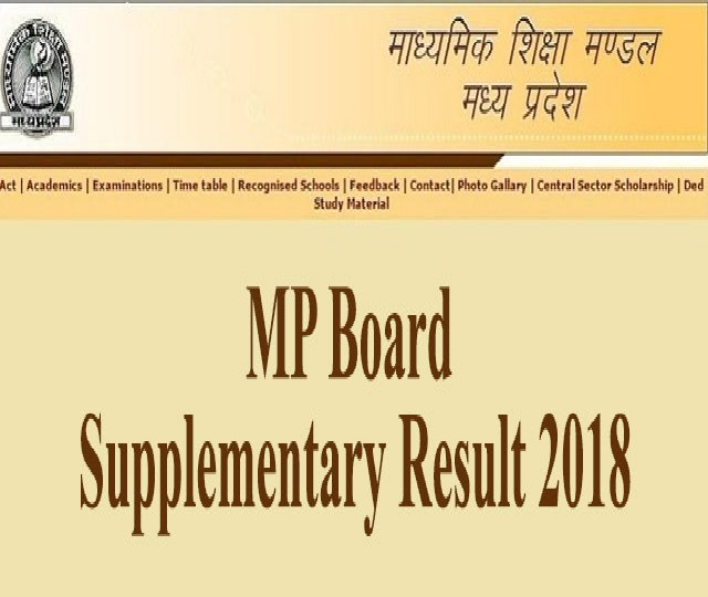 MP 10th and 12th Board supplementary exam result released at mpsc.nic.in, Here is how to check