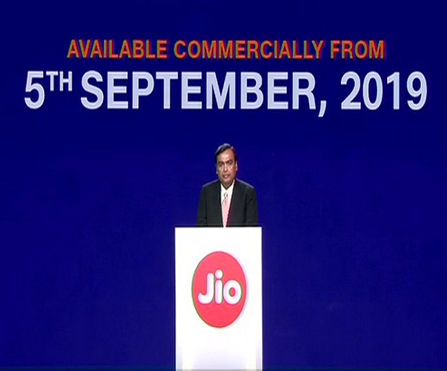 Mukesh Ambani announces launch of Jio Fiber Services on commercial basis from Sept 5