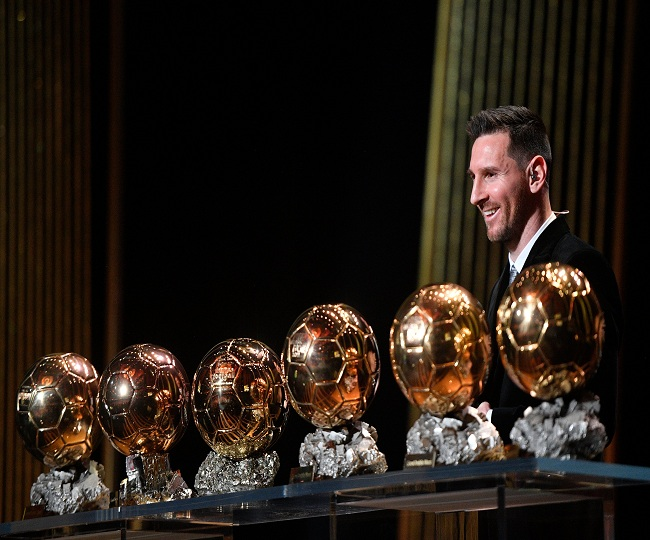 Messi surpasses Ronaldo to win Ballon d'Or for record sixth time