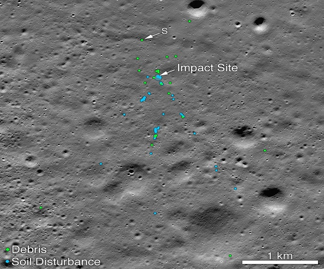 NASA finds Chandrayaan-2's Vikram Lander, releases images of impact site on lunar surface
