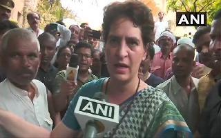 Priyanka Gandhi meets Sonbhadra victims' families at Chunar fort