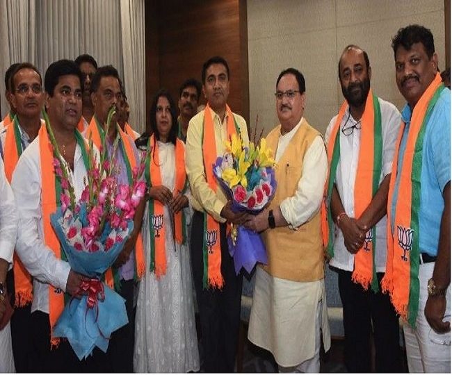 'Deeply hurt' by induction of Congress MLAs in party, loyal BJP worker resigns