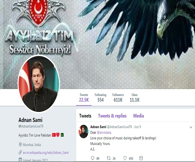 After Amitabh, Adnan Sami's Twitter account hacked; profile picture changed to Imran Khan