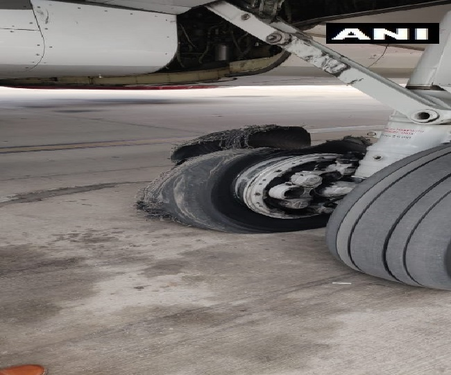 Video | SpiceJet's Dubai flight makes emergency landing in Jaipur after tyre burst