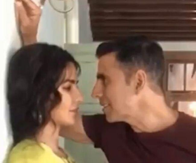 'With our very own Jazz': Akshay Kumar recreates Namastey London scene with Katrina on the sets of Sooryavanshi   Watch