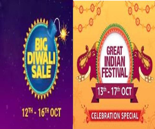 Flipkart Big Diwali sale and Amazon Great Indian Festival to start from Oct 12 and 13