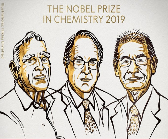 John B. Goodenough, M. Stanley Whittingham and Akira Yoshino jointly win 2019 Nobel Prize for Chemistry