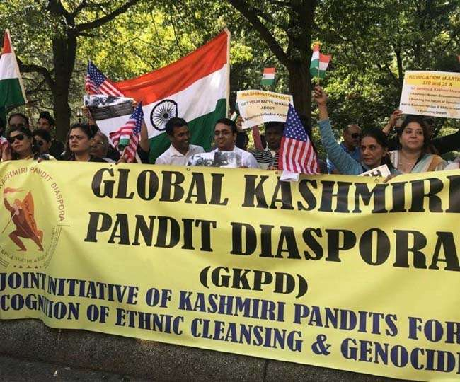 Kashmiri Hindus protest against US daily in DC over 'biased' coverage of J&K situation