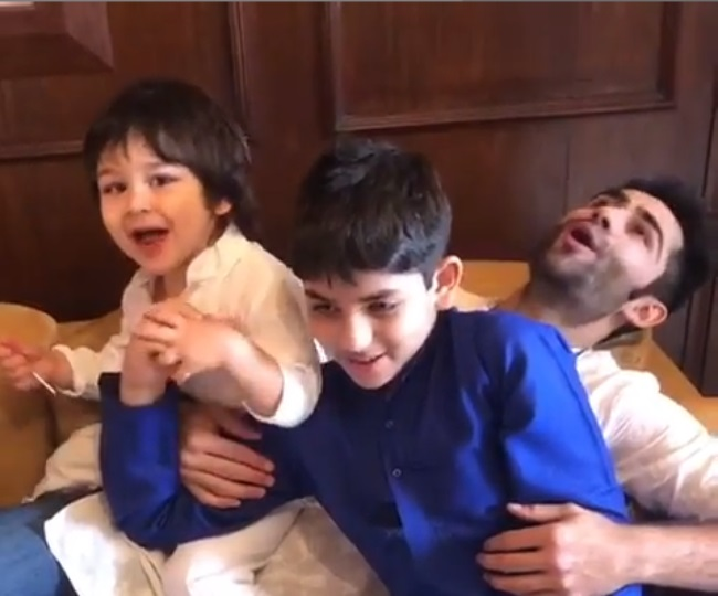 Watch | Taimur Ali Khan chanting 'Mangal Murti Morya' is the most adorable thing you will see on internet today