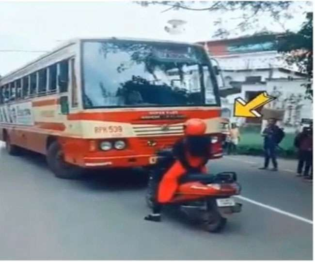 Watch | Woman stops scooty in front of bus, refuses to give way and the reason will make you laud her