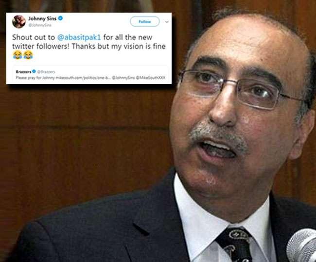 'My vision is fine': Johnny Sins mocks ex-Pak envoy for tagging him as Kashmiri pellet gun victim