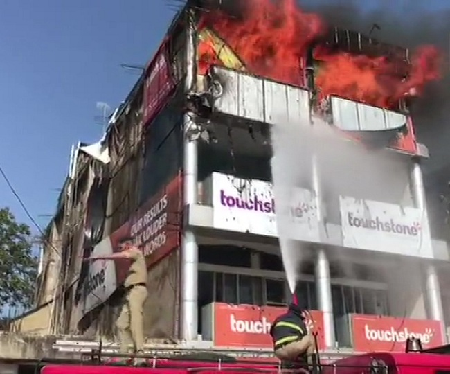 Major fire breaks out at IELTS institute in Chandigarh, seven fire tenders at the spot