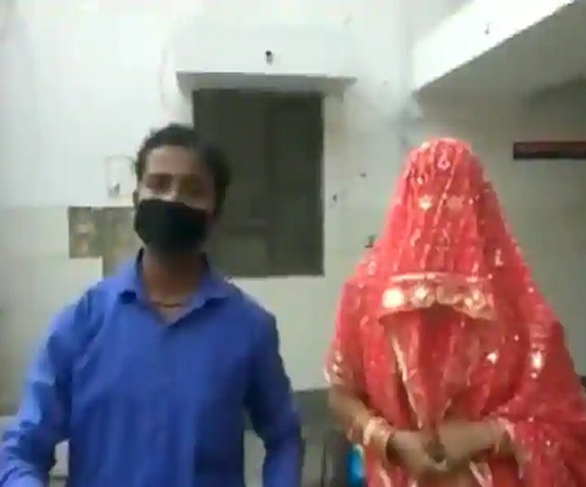 Sahibabad man goes out to buy groceries amid coronavirus lockdown, returns home with wife | Watch