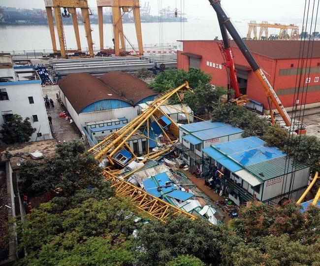 11 killed, several injured as crane collapses at Hindustan Shipyard in Visakhapatnam | Watch