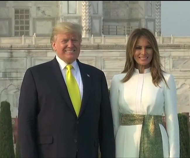 Rezultati i imazhit për donald and melania trump in india