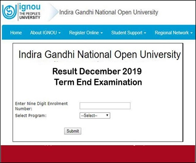 IGNOU TEE Results 2019: December Term End Exam results announced, here's how to check your score