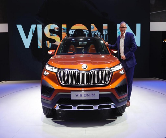 Auto Expo 2020: Skoda India showcases its mid-size concept SUV 'Vision IN' based on Volkswagen's MQB A0 platform