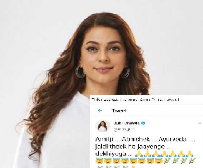 'Aaradhya or Ayurveda'? Juhi Chawla trolled for 'typo' in tweet wishing speedy recovery to Bachchans