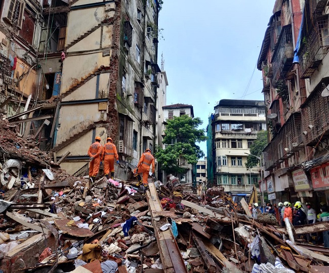 9 killed, several other injured in collapse of two buildings amid heavy rainfall in Mumbai