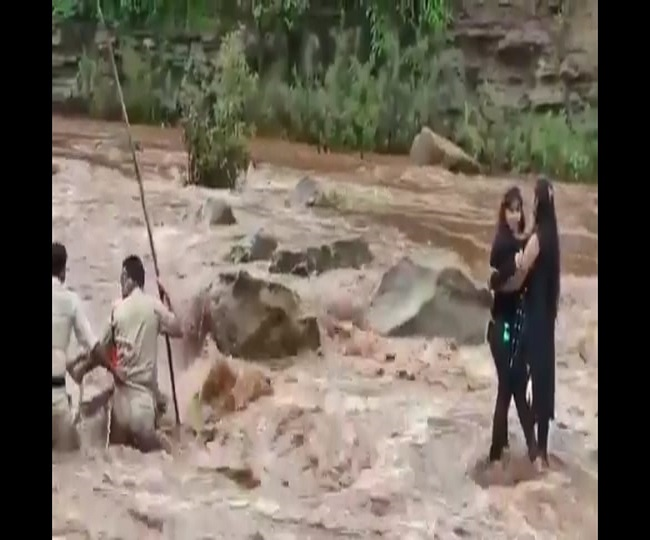 Watch: MP police rescue girls from river who went in for a selfie