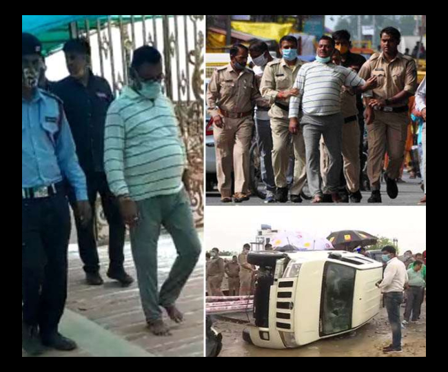 UP Cop carrying Gangster Vikas Dubey in police van tests positive for COVID-19