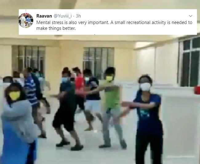 This viral video of COVID-19 patients organising flash mob has twitter divided