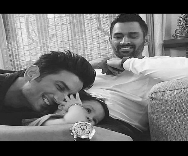 Adorable clicks of Sushant Singh Rajput and MS Dhoni's daughter is the best thing on internet. See Pics