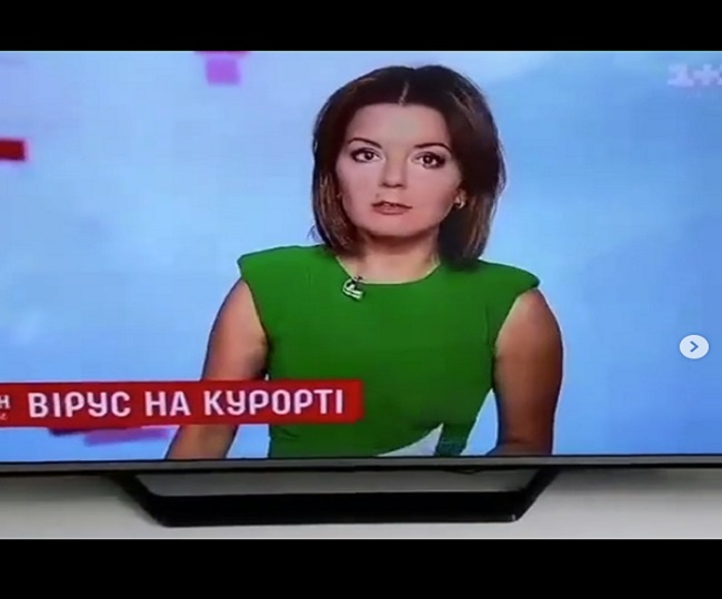 WATCH: Ukraine TV anchor's tooth falls out during prime-time, how she handles situation will win your heart