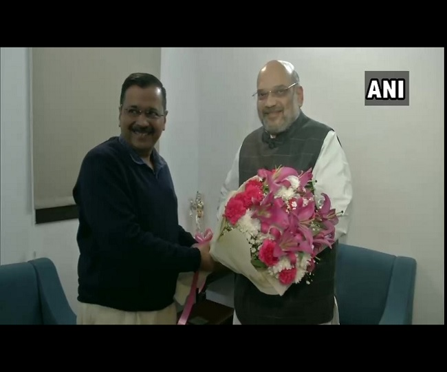 Arvind Kejriwal meets Amit Shah over coronavirus crisis in Delhi, says 'Centre has assured him of all help'