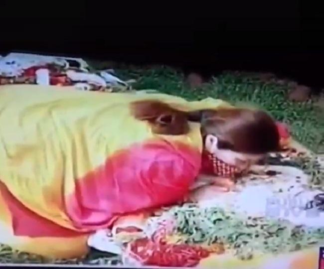 Chiranjeevi Sarja's wife Meghana Raj breaks down as she hugs, kisses him for the last time | Watch