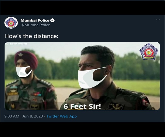 'How's the distance': Mumbai Police twists Uri's famous dialogue to remind people to practice social distancing   Check here