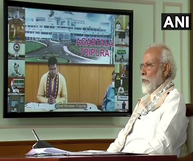 Example of 'cooperative federalism': PM Modi discusses coronavirus crisis with CMs, hints at further reopening of economy